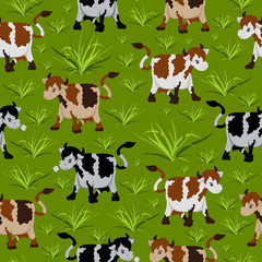 Seamless cow pattern