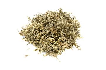 dried sagebrush absinthe wormwood medical herbs isolated