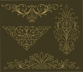Gold Scroll Ornaments