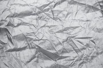 Silver wrinkle nylon sheet texture