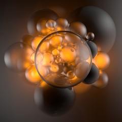 Seifenblasen orange