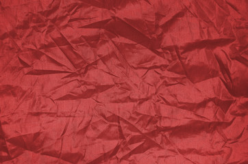Red Wrinkle nylon sheet texture