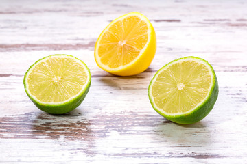 Lemon and a lime in the kitchen