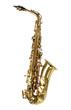 Alto sax golden saxophone isolated on white background. - 75527537