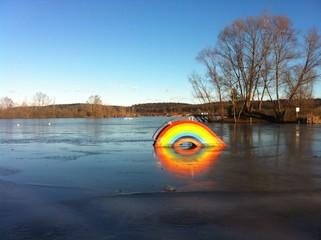 Frozen Rainbow At Lake Königsdorf
