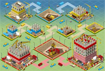 Isometric Building Construction Mega Set