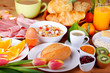 Leinwandbild Motiv Leckeres Frühstück
