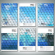 Abstract blue background, triangle design vector. Brochure,