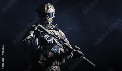 Leinwanddruck Bild Special forces soldier