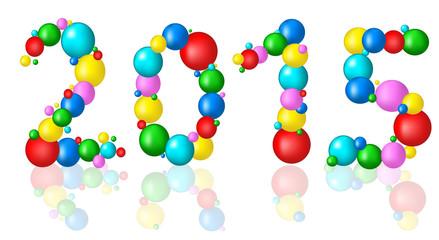 2015 New Year background with balls. birthday