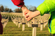 children walk hand in hand for peace world war 1 - 75529384