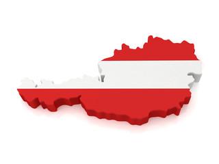 3d Austria Map