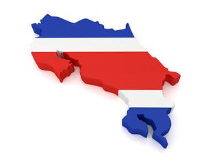 3d Costa Rica Map