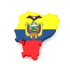 3d Ecuador Map