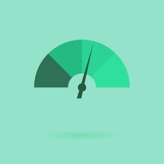 Vector flat speedometer icon, wed design