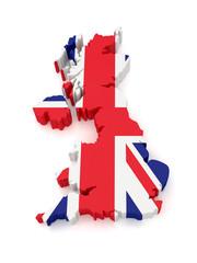 3d United Kingdom Map