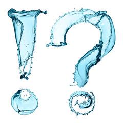 question mark water, bio image