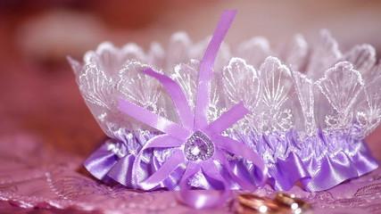 Beautiful bride wedding accessories