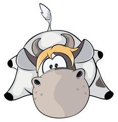 A small cow. Cartoon