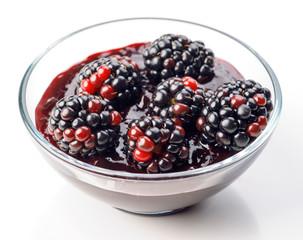 blackberries with jam