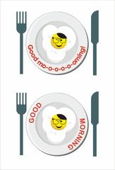 fried egg smile icon