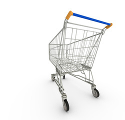 Empty Shopping Cart From The Back