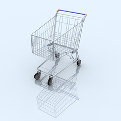 A Single Empty Shopping Cart