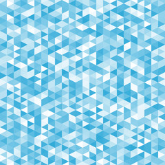 Geometric mess of blue triangles elements
