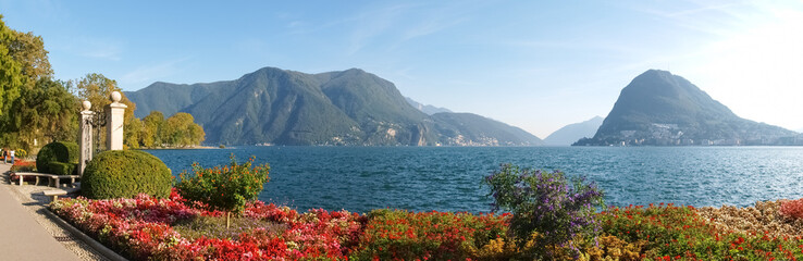 Lugano, Switzerland. Picture from the botanical park