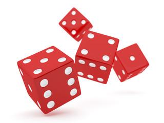 Red Falling Dices