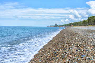 Georgia Batumi beach landscape coast Black Sea