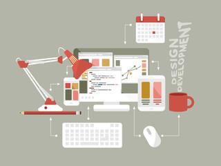 Flat icons web design vector illustration