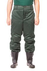 Worker in winter workwear pants.
