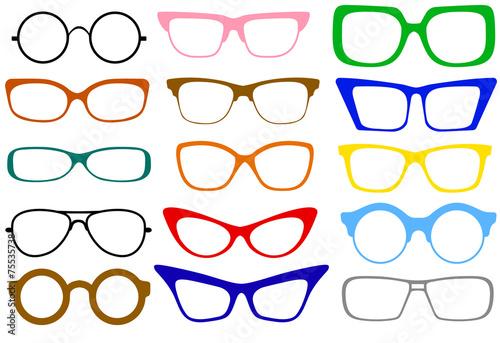 set of glasses - 75535738