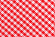 Red and white checkered tablecloth - 75535924