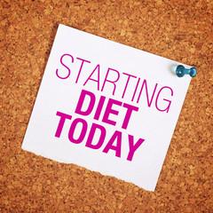 Starting Diet Today