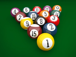 3D Billiard Background