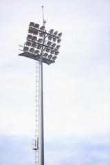 Stadium spotlights on daytime
