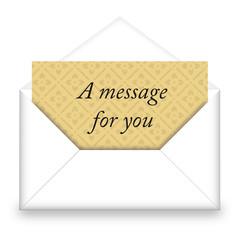 Busta con messaggio