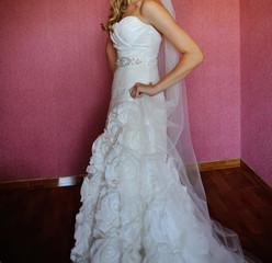 bride in pose