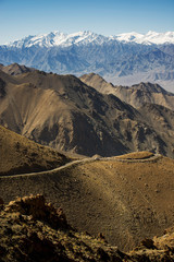viewpoint high road on the way to Khardung La from Leh