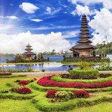 spiritual Bali. Ulun Danu temple in lake