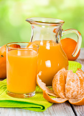 Fresh tangerine juice