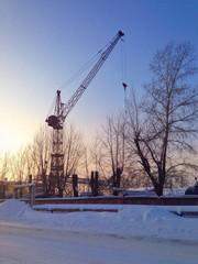 industrial area. crane