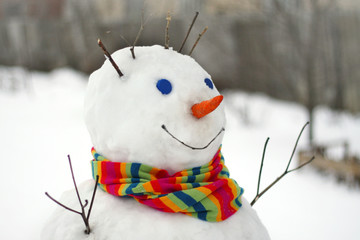 Fun snowman.