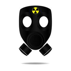 Gas Mask with Radioactive symbol