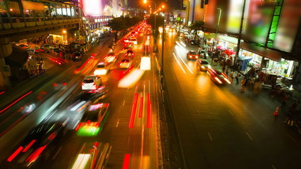 Traffic Time lapse in Bangkok, Thailand