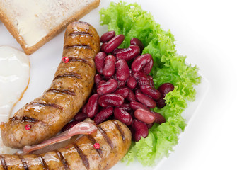 sausages with beans