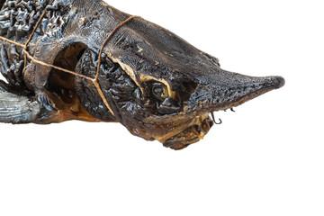 Head smoked sturgeon