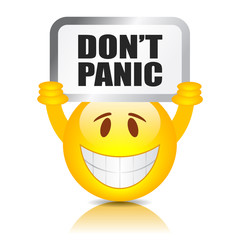 Do not panic sign